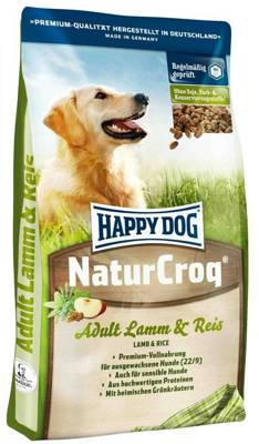 Happy Dog NaturCroq ėriena su ryžiais 15kg