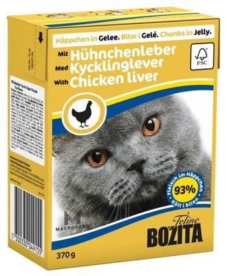 BOZITA Cat Vištienos kepenys drebučiuose 370g