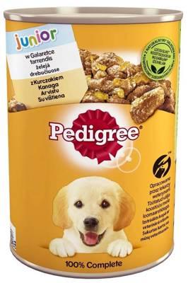 PEDIGREE Junior konservų dėžutė 400g - Vištiena drebučiuose - drėgnas šunų maistas