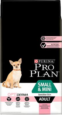 Purina Pro Plan Small & Mini Adult Sensitive Optiderma, lašiša ir ryžiai 7kg