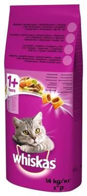 WHISKAS Adult 14kg - sausas kačių maistas su vištiena ir daržovėmis