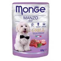 MONGE GRILL DOG POUCHES SU JAUTIENA 100G.